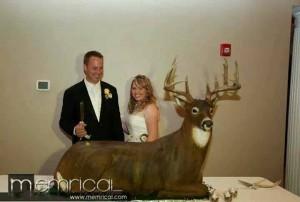 big buck wedding cake