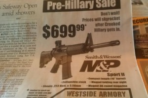 guns hillary